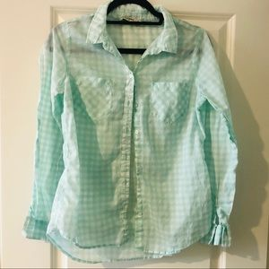 Old Navy mint flannel